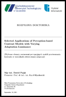 Selected applications of perceptions-based contrast models with varying adaptation luminance
