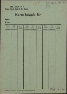 Karta książki