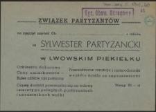 [Zaproszenie. Inc.:] Sylwester Partyzancki