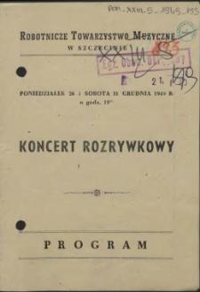 Koncert Rozrywkowy : Program
