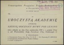 [Zaproszenie. Inc.:] Towarzystwo Przyjaźni Polsko-Radzieckiej w Szczecinie ma zaszczyt zaprosić [...]