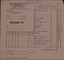 Rachunek Nr : [Międzynarodowi Ekspedytorzy C. Hartwig S. A.]