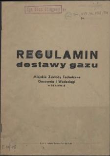 Regulamin dostawy gazu