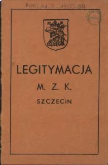 Legitymacja M. Z. K. Szczecin