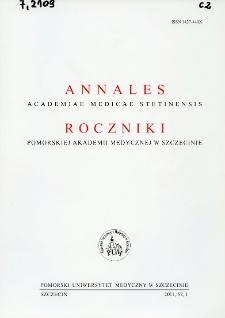 Annales Academiae Medicae Stetinensis = Roczniki Pomorskiej Akademii Medycznej w Szczecinie. 2011, 57, 1