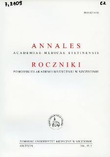 Annales Academiae Medicae Stetinensis = Roczniki Pomorskiej Akademii Medycznej w Szczecinie. 2011, 57, 2
