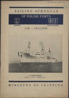Sailing schedule of Polish ports