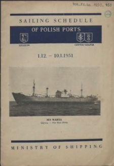 Sailing schedule of Polish ports