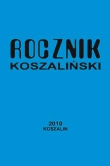 Rocznik Koszaliński. 2010, nr 38