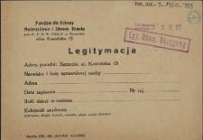 Legitymacja : Poradnia dla Ochrony Macierzyństwa i Zdrowia Dziecka