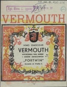 [Etykieta. Inc.:] Wino owocowe Vermouth [...]