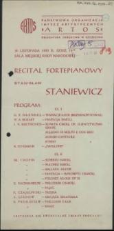 Recital fortepianowy Stanisław Stankiewicz