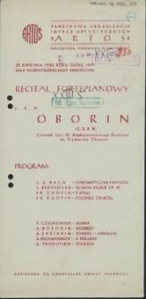 Recital fortepianowy Lew Oborin [...]