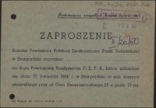 Zaproszenie [Inc.:] Komitet Powiatowy Polskiej Partii Robotniczej w Stargardzie zaprasza [...] na II-gą Powiatową Konferencję P.Z.P.R. [...]