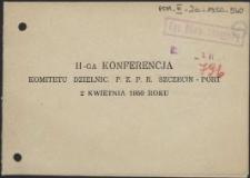 II-ga Konferencja Komitetu Dzielnicowego. PZPR Szczecin-Port 2 kwietnia 1950 roku