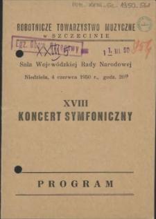 XVIII koncert symfoniczny