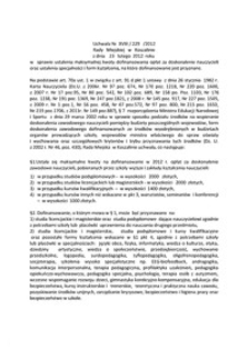 Uchwała Rady Miejskiej w Koszalinie nr XVIII/229/2012