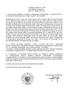 Uchwała Rady Miejskiej w Koszalinie nr XVIII/233/2012