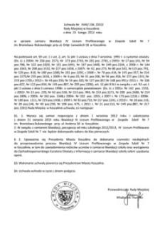 Uchwała Rady Miejskiej w Koszalinie nr XVIII/236/2012