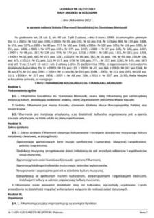 Uchwała Rady Miejskiej w Koszalinie nr XX/277/2012