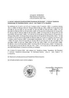Uchwała Rady Miejskiej w Koszalinie nr XX/283/2012