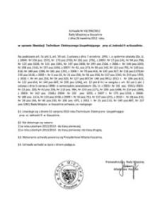 Uchwała Rady Miejskiej w Koszalinie nr XX/290/2012