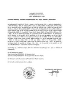 Uchwała Rady Miejskiej w Koszalinie nr XX/292/2012