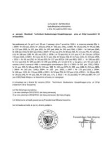 Uchwała Rady Miejskiej w Koszalinie nr XX/294/2012