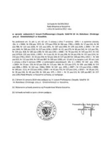 Uchwała Rady Miejskiej w Koszalinie nr XX/295/2012