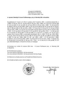 Uchwała Rady Miejskiej w Koszalinie nr XX/300/2012