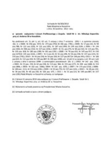 Uchwała Rady Miejskiej w Koszalinie nr XX/303/2012