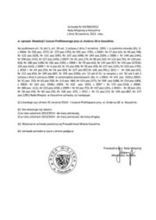 Uchwała Rady Miejskiej w Koszalinie nr XX/304/2012