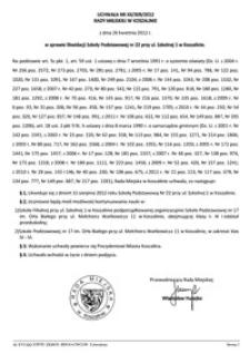 Uchwała Rady Miejskiej w Koszalinie nr XX/309/2012