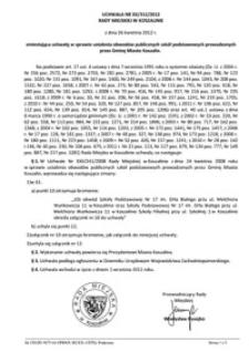 Uchwała Rady Miejskiej w Koszalinie nr XX/312/2012