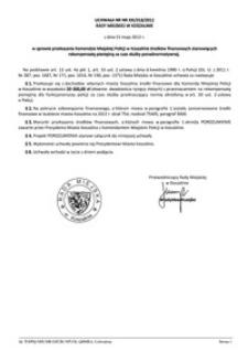 Uchwała Rady Miejskiej w Koszalinie nr XXI/318/2012