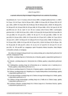 Uchwała Rady Miejskiej w Koszalinie nr XXI/320/2012