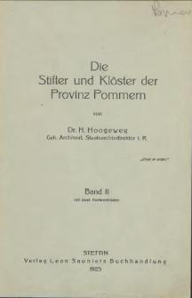Die Stifter und Klöster der Provinz Pommern. Bd. 2