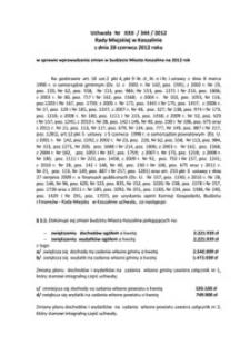 Uchwała Rady Miejskiej w Koszalinie nr XXII/344/2012