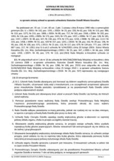 Uchwała Rady Miejskiej w Koszalinie nr XXII/346/2012