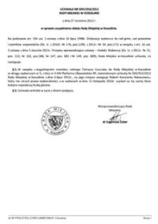 Uchwała Rady Miejskiej w Koszalinie nr XXIV/354/2012