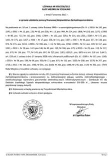 Uchwała Rady Miejskiej w Koszalinie nr XXIV/356/2012