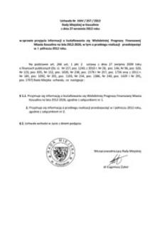 Uchwała Rady Miejskiej w Koszalinie nr XXIV/357/2012