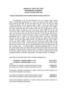 Uchwała Rady Miejskiej w Koszalinie nr XXIV/361/2012