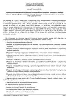 Uchwała Rady Miejskiej w Koszalinie nr XXIV/363/2012