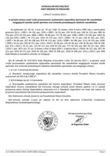 Uchwała Rady Miejskiej w Koszalinie nr XXIV/364/2012