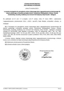 Uchwała Rady Miejskiej w Koszalinie nr XXIV/366/2012
