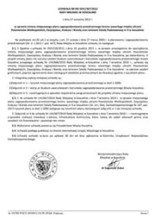 Uchwała Rady Miejskiej w Koszalinie nr XXIV/367/2012