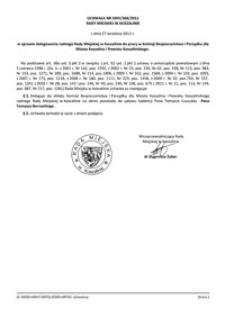 Uchwała Rady Miejskiej w Koszalinie nr XXIV/368/2012
