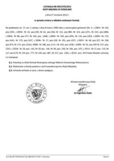 Uchwała Rady Miejskiej w Koszalinie nr XXIV/370/2012