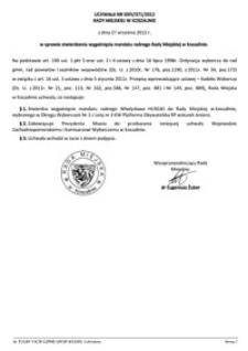 Uchwała Rady Miejskiej w Koszalinie nr XXIV/371/2012